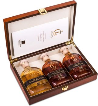 Marzadro Grappa Giare Collection 3 x 0,2 l in exklusiver Holzkiste - productkeywords